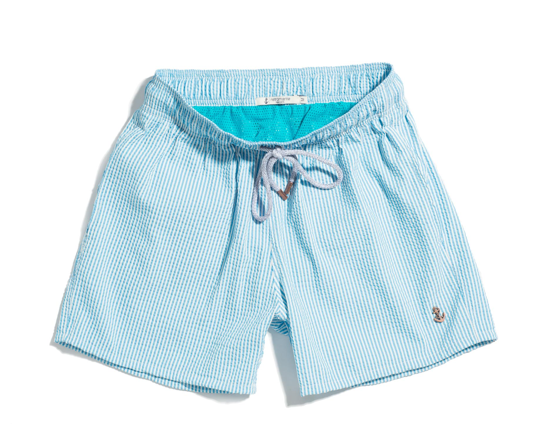 Blue and White Shorts-003